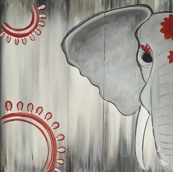 Painted Elephant Real Wood Board