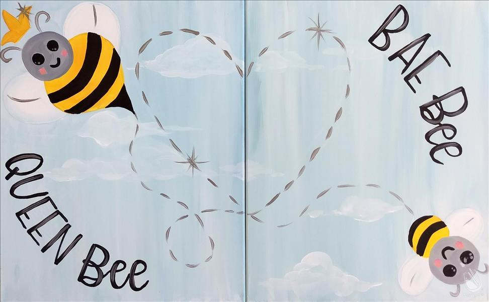 How to Paint Family Friendly! Mommy and Me Bees