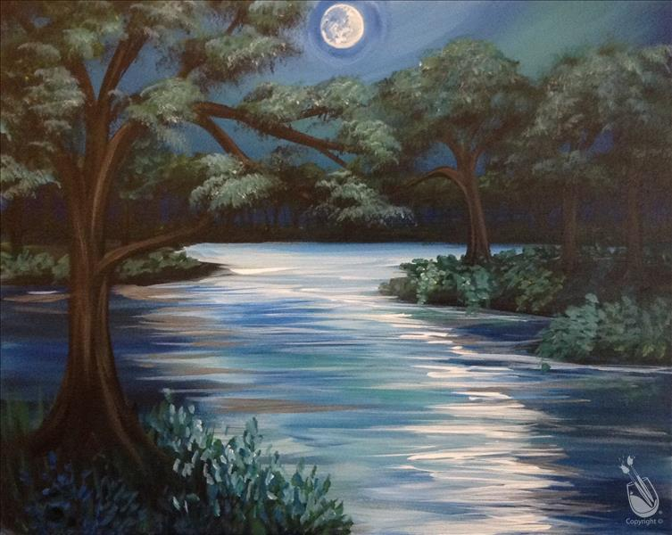 How to Paint Moonlit River