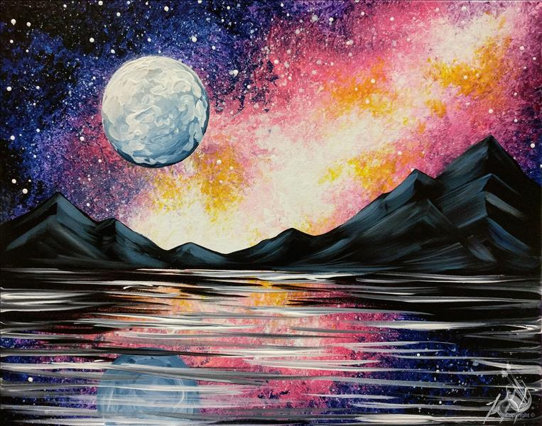 How to Paint Galaxy Reflection