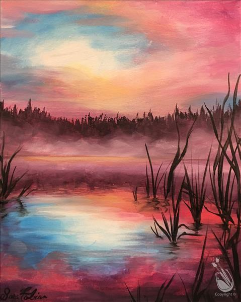 How to Paint Lakeside Paradise