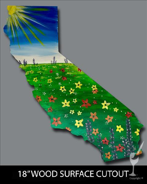 California Wildflowers Cutout
