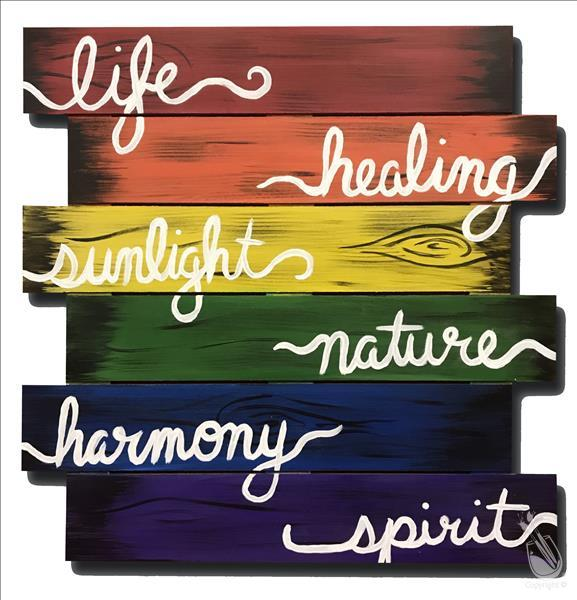 How to Paint Happy Pride Month!! Rustic Pride Flag Pallet