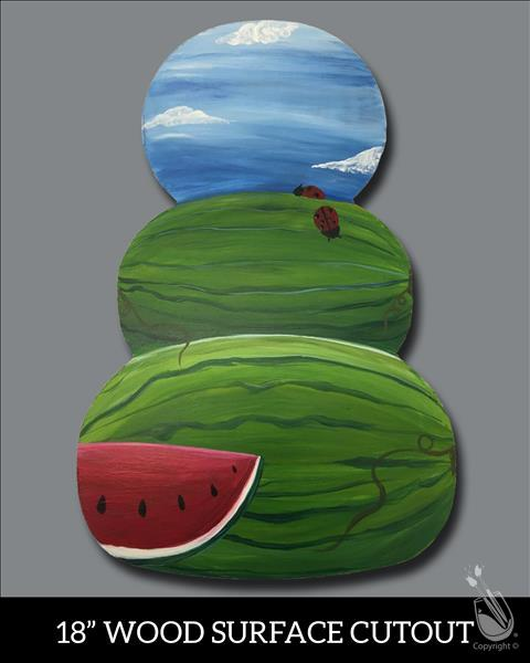 Stacked Watermelons Cutout
