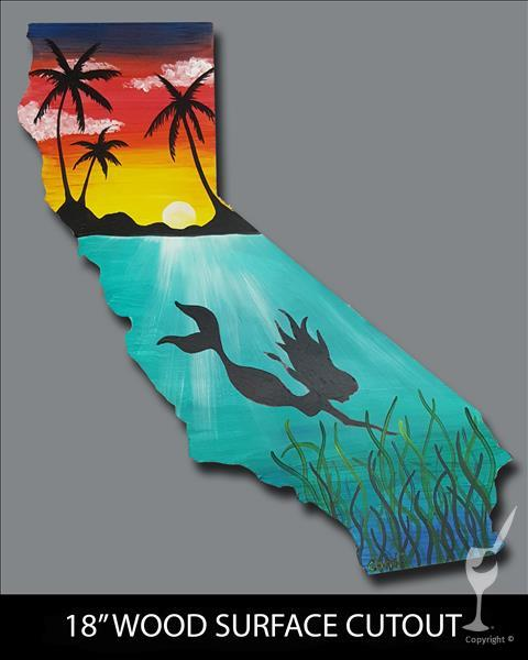 Cali Mermaid Cutout