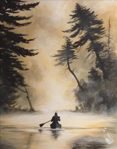 How to Paint Canoe Trip 16X20 NEW ART! 18+