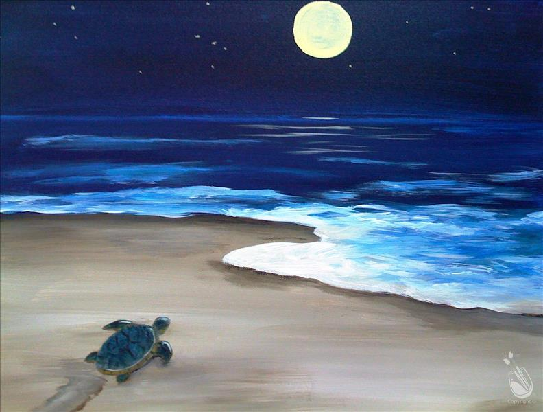 How to Paint Turtle Heading Home (All Ages)