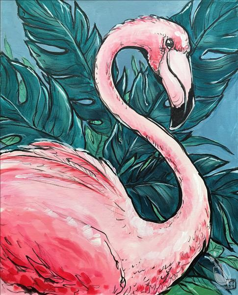 $10 OFF MANIC MONDAY: Pink Flamingo {3-hour