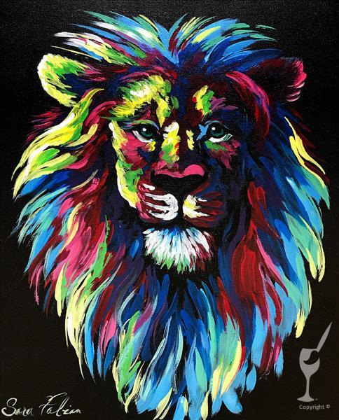 How to Paint Colorful Lion  In-Studio Class
