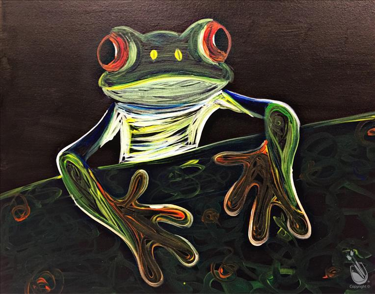 How to Paint Neon Tree Frog - All Ages!