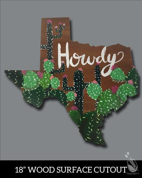 KIDS CAMP! Howdy Cactus Cutout **LIMITED SEATING**