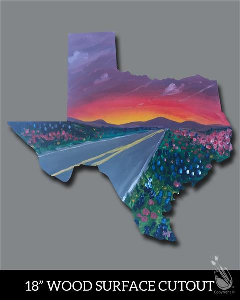 Texas Highway Cutout
