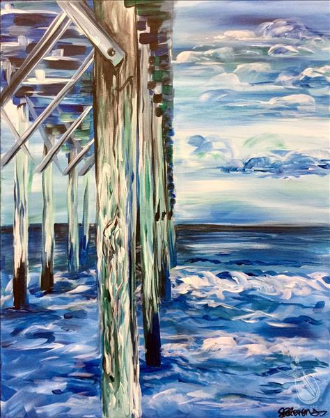 How to Paint Wine-Down Wednesday: Teal Tides