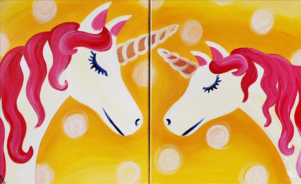 How to Paint Mommy and Me Sunshine Unicorn - Set