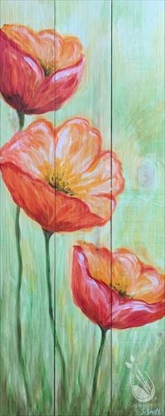 Peaceful Poppies Real Wood Board