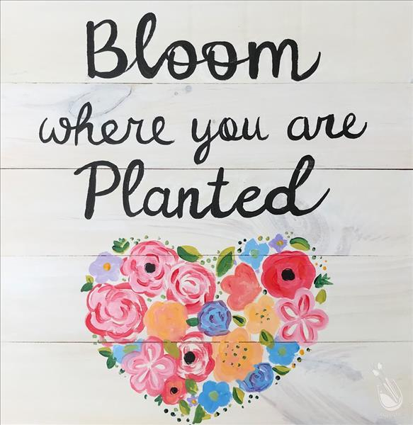 FB LIVE CLASS Bloom Where You Are Planted