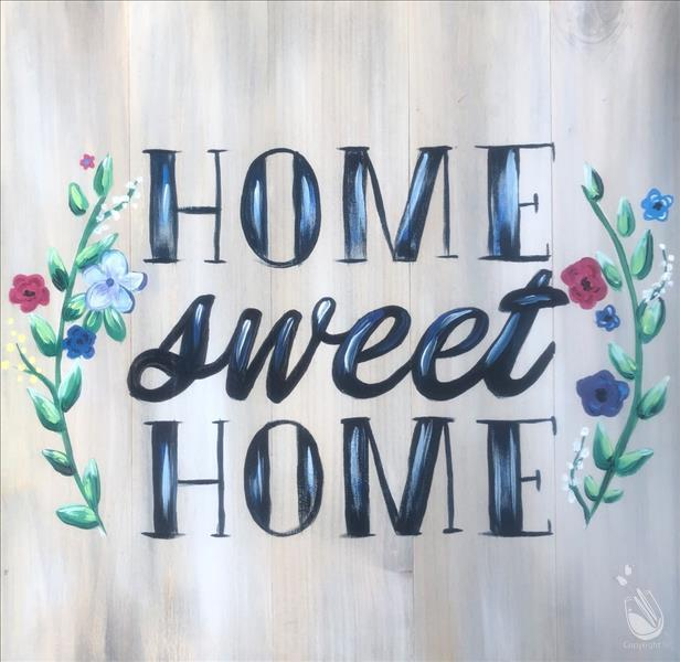 Home Sweet Home Real Wood Board