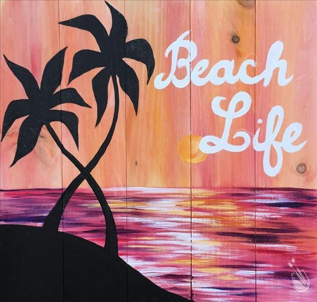 Beach Life Real Wood Board