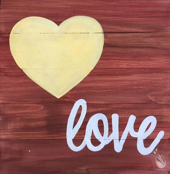 Heart Love Real Wood Board