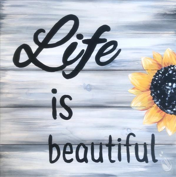 Life is Beautiful Real Wood Board