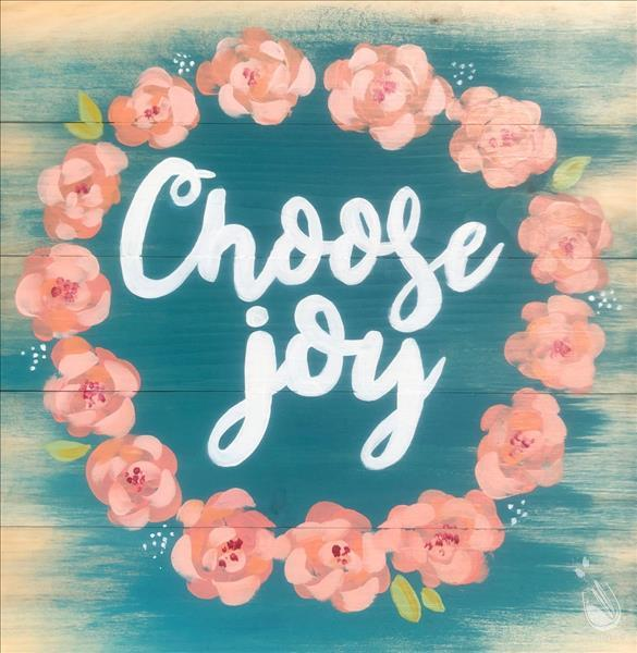 Choose Joy Real Wood Board - Ages 14+
