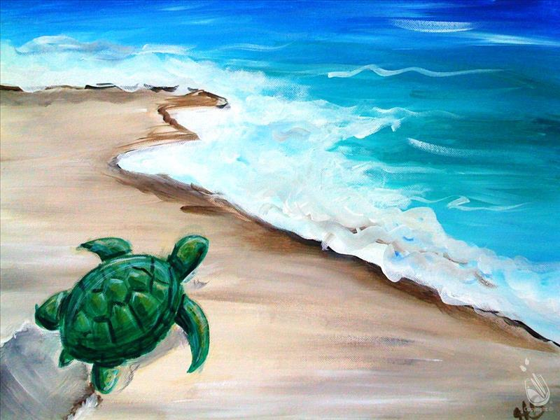 AFTERNOON ART: $5.00 OFF Turtle In The Sand