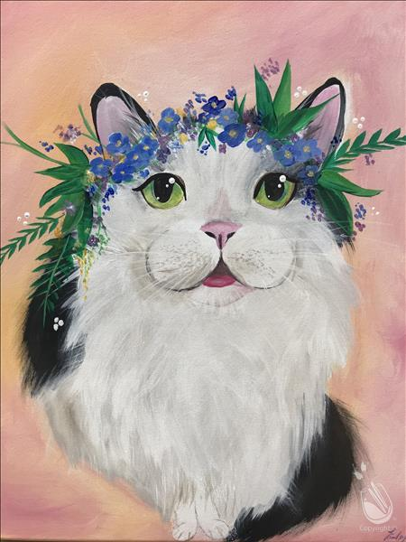 Paint Your Pet - Flower Crown Optional - In Studio