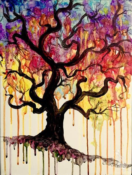 After School Art ~ Drippy Tree