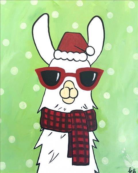 How to Paint Christmas Party Llama