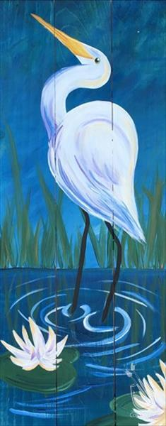 We've Got Wood Thursday-Egret Among the Lilies