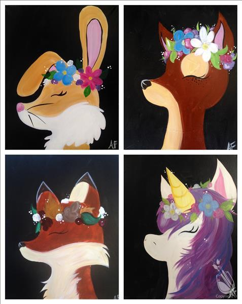How to Paint Flower Crown Critters, paint your fave