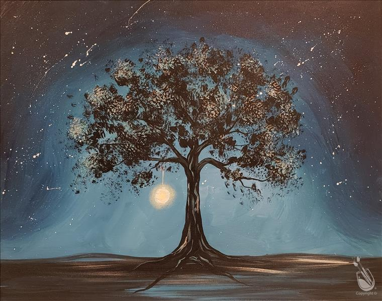 How to Paint !NEW ART! TREE AGLOW