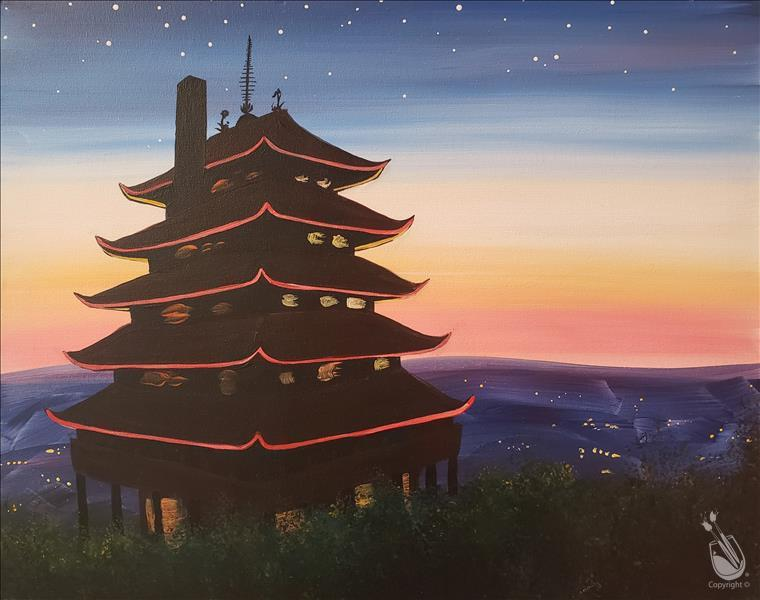 The Pagoda at Sunset