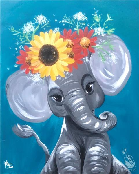 How to Paint Bright Eyes Elephants! How Adorable.