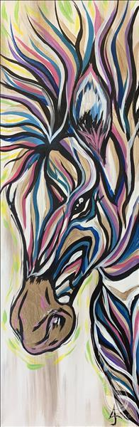 """Peekaboo Zebra"" LONG Art!"