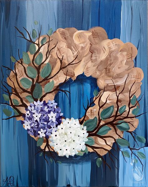 How to Paint Floral NOPE Wreath