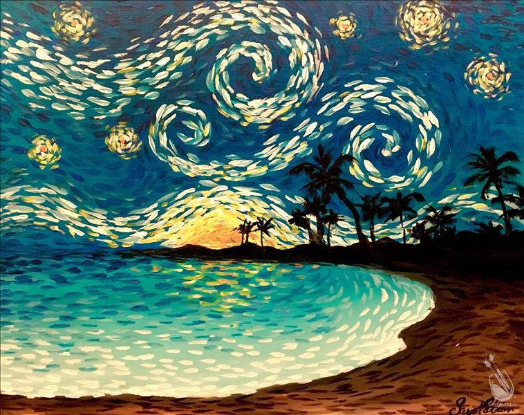 How to Paint Starry Night Beach (ages 18+)