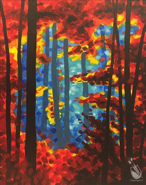 How to Paint Bright Fall Forest - Adults Only