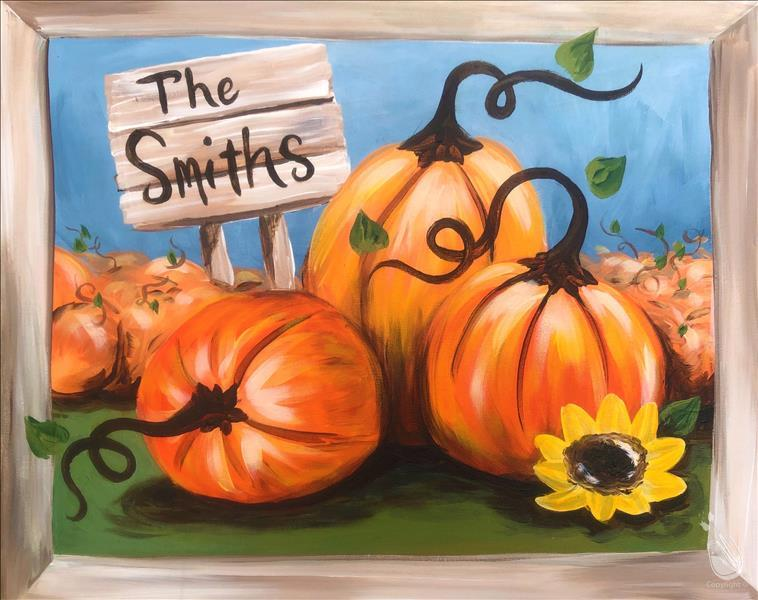 "How to Paint ""A Fall Family Pumpkin Patch"""