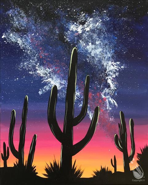 How to Paint Milky Way Desert Glow