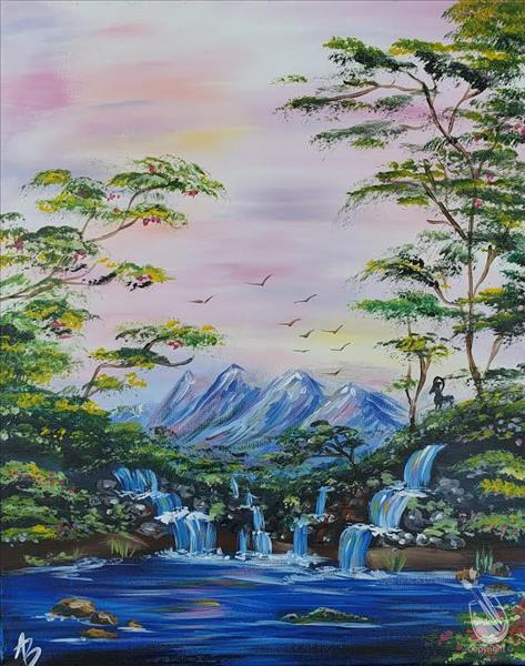 How to Paint Mystic Waterfalls