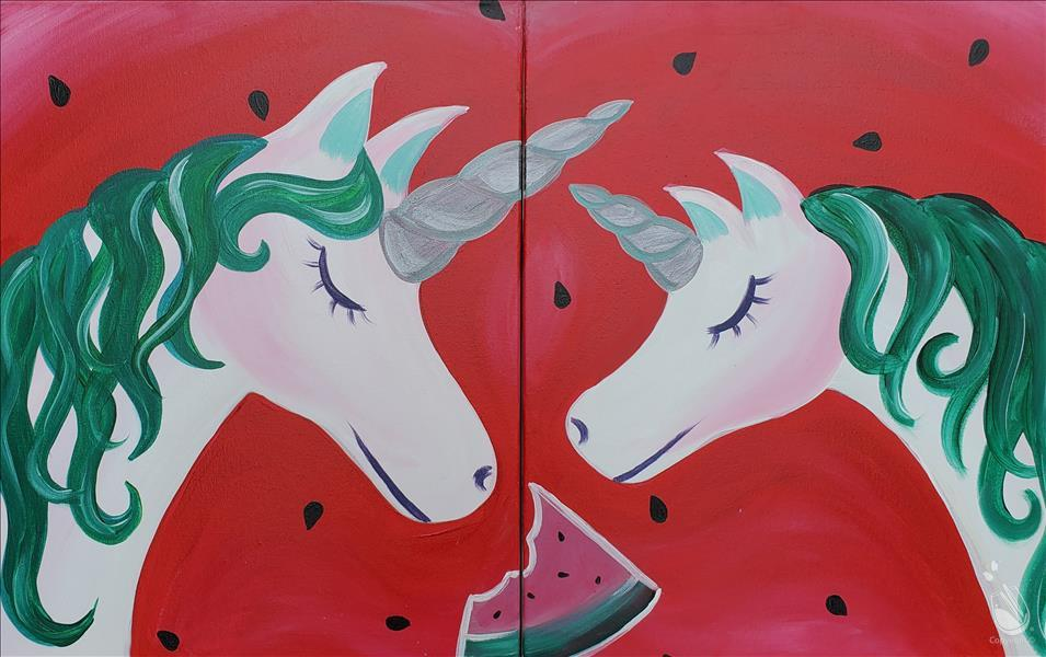 Mommy and Me Watermelon Unicorns - Set