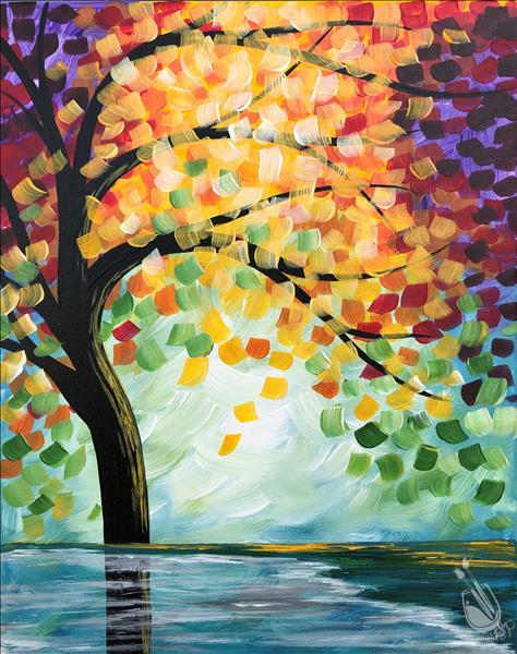 How to Paint Open Class - Fall Reflections - Ages 13 & Up