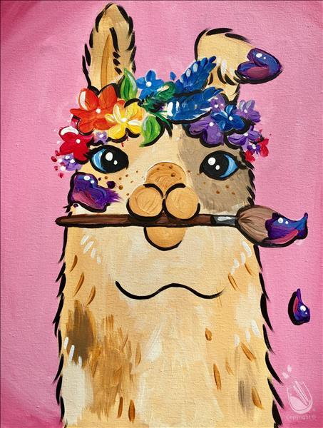 How to Paint Artsy Llama