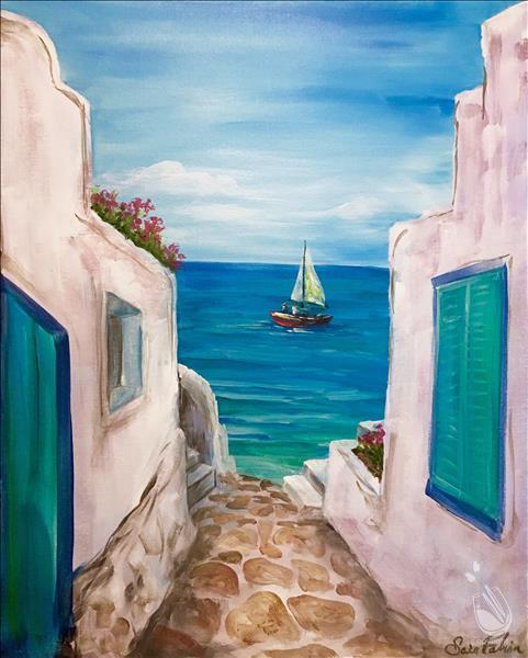 How to Paint Santorini View