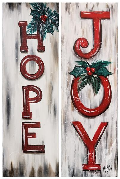 How to Paint Christmas Signs - Set   **CHOOSE ONE SIDE**
