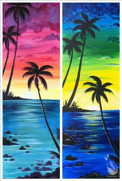 IN STUDIO|Scenic Maui *Date Night or Paint 1