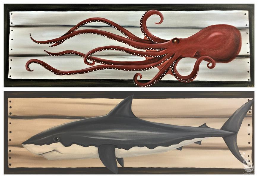 How to Paint Under the sea ! Octopus or shark