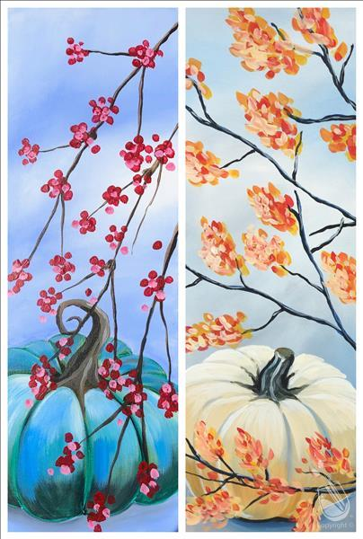 How to Paint Autumn Botanicals! Choose a side or a Couple Date!