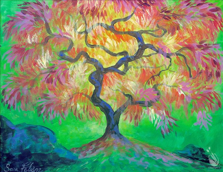 Colorful Vibrant Oak Tree